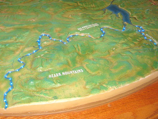 Lake Dardanell State Park Topo Map Exhibit - Interactive topo map